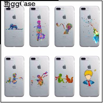 Cartoon Starry sky little prince Cover TPU soft silicone transparence Phone Case Cover for iPhone 6 6s 5 5s SE 7 Plus 7Plus 8