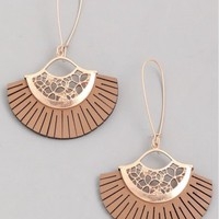 Influence Leather Tassle Earrings