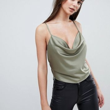 ASOS DESIGN Backless Cowl Neck Top at asos.com