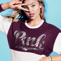 Cozy Bling Varsity Tee - PINK - Victoria's Secret