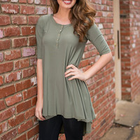 Long Way From Home Tunic, Sage