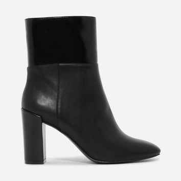 Black Basic Block Heeled Boots|CHARLES & KEITH