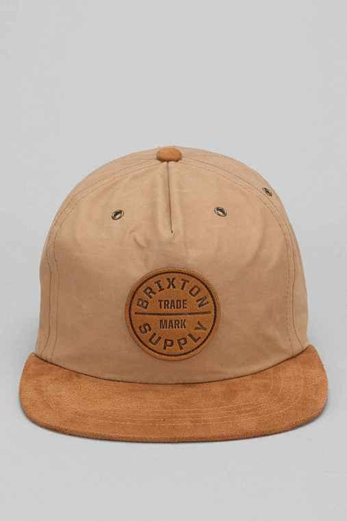 c86fd9818f5 Brixton Oath Suede Brim Baseball Hat- Tan from Urban Outfitters