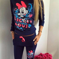 Floral Minnie Mouse Print Sweater