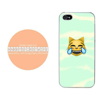 Laughing Cat Emoji iPhone 4/4s 5/5s/5c & iPod 4/5 Case