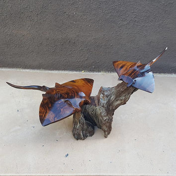 Hand Carved Ironwood Stingray Sea Ray Sculpture
