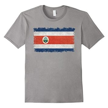 Flag of Costa Rica T-Shirt in Vintage Retro Style