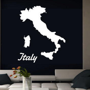 Wall Decal Vinyl Sticker Decals Art Decor Design Sign Italy Continent World Country City Shoes Dress Girls Dorm Bedroom Fashion  (r720)