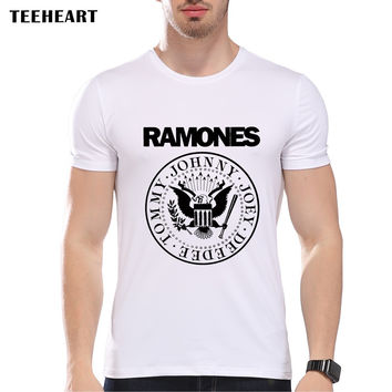 Ramones The beatles T Shirts Men O Neck  Resident Evil  Mens Band Top Tees
