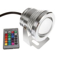 Lemonbest® Remote Control 10w 12v Ip68 RGB LED Underwater Landscape Fountain Pond Light Color Changing Light Kit