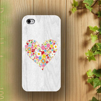 iphone case, i phone 4 4s 5 case, iphone4 iphone4s iphone5 case,stylish plastic rubber silicone cases cover color heart floral