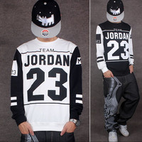 2017 Men's Long Sleeve Jordan Shirts 23 Printed Hip Hop Tee Shirts Man Baseball t-shirt Dance Camisa Masculina