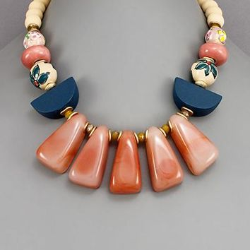 Coral Wedge Necklace