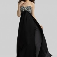 Clarisse 2342 -Black/Silver Beaded Prom Dresses Online