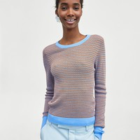 TWO-TONE STRIPED SWEATERDETAILS