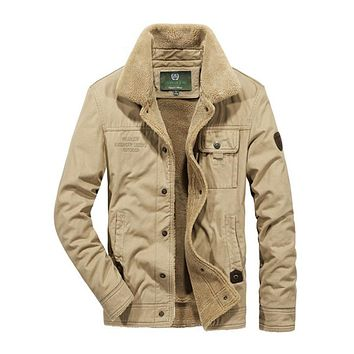 2019 Winter Thick Warm Man Casual Jacket Turn-down Collar Cotton 3 Colors Outwear Man Parkas Coat Size M-4XL