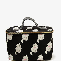 Cat Print Cosmetic Bag