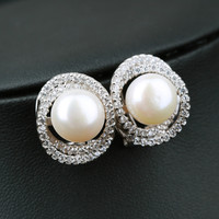 Gift Jewelry Stylish New Arrival Shiny Pearls 925 Silver Earring Accessory Ring [7189041415]