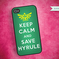 Iphone 5 iPhone 4/4s Case Legend of Zelda Link by QlassicCases