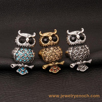 Metal Various Design Punk Vintage Style owl ring