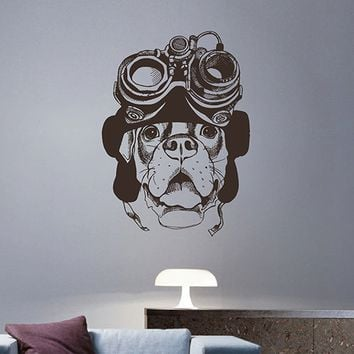 ik2954 Wall Decal Sticker Steampunk Dog living room bedroom