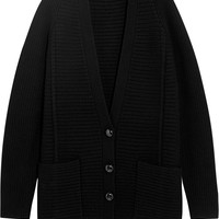 Proenza Schouler - Oversized ribbed wool and cashmere-blend cardigan
