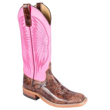 Teskey's Saddle Shop: Anderson Bean Dayglow Pink Women's Boots