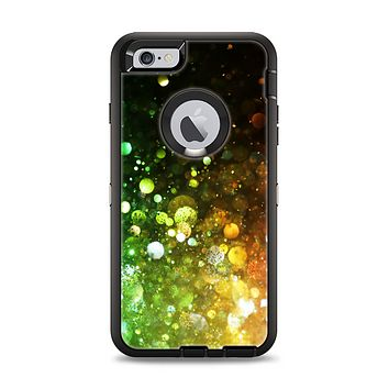 The Neon Glowing Grunge Drops Apple iPhone 6 Plus Otterbox Defender Case Skin Set