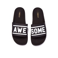 Awesome Minimal Slides (Men's) - Black