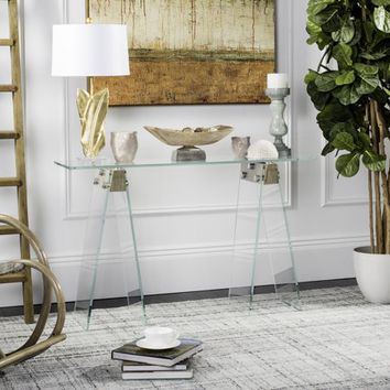 Safavieh Modern Glam Glass Loft Console Table - Walmart.com