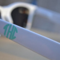 Custom Monogram for your Sunglasses ~Vinyl Monogram~ Sticker