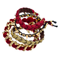 Ettika Red Majesty Bracelet Set