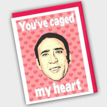 Funny Valentine's Day Card    Funny Valentine   You've Caged My Heart   Valentine's Day Card