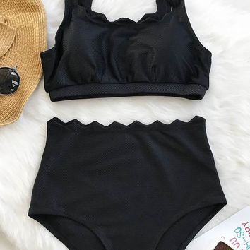 Cupshe Seaside Tank High-waisted Bikini Set