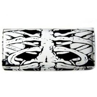 - Banned Glow In the Dark Skeleton Wallet - Attitude Clothing