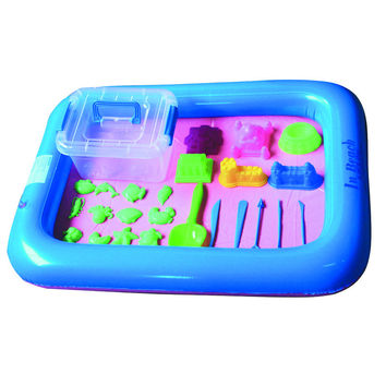26PCS Dynamic Amazing No-mess Indoor Magic Play Sand Children Toys Mars Space Inflatable Sand Tray Accessories Multi-function
