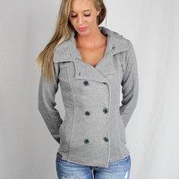 Luckless Clothing Co | Gunmetal Pea Coat
