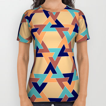 Geometric pattern 1977 All Over Print Shirt by Negin Khatoun