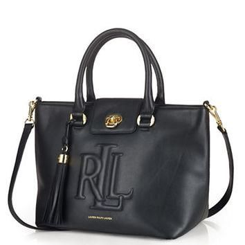 Lauren Ralph Lauren Victoria Leather Satchel