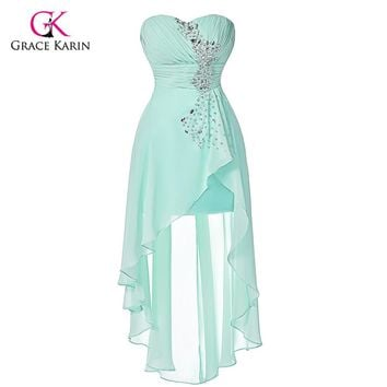 High Low Prom Dresses Grace Karin Elegant Cheap Pale Turquoise 2 7cbdae6226fc