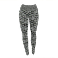 """Petit Griffin """"Marble"""" Gray Abstract Yoga Leggings"""