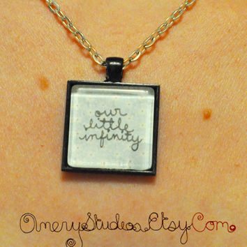 Our Little Infinity Glass Pendant Necklace