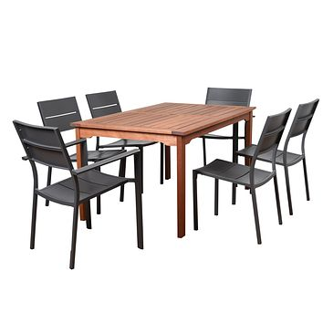 Amazonia Koningsdam 7 Piece Rectangular Patio Dining Set