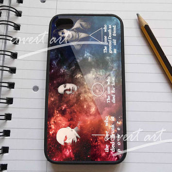 Harry potter quote death hollow in galaxy nebula for iPhone 4 / 4S / 5 Case Samsung Galaxy S3 / S4 Case