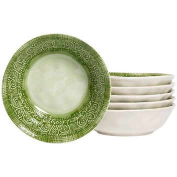 Tabletops Gallery® Castleware Set of 6 Melamine Cereal Bowls