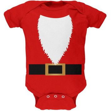 DCCKU3R Halloween Santa Claus Costume Soft Baby One Piece
