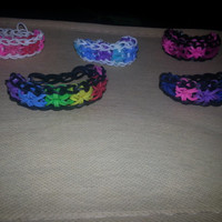 Custom Made Starburst Rainbow Loom Bracelet