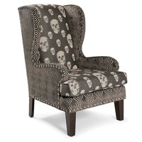 Regina Andrew Skalle Charcoal Mr. Crowley Wingback Chair