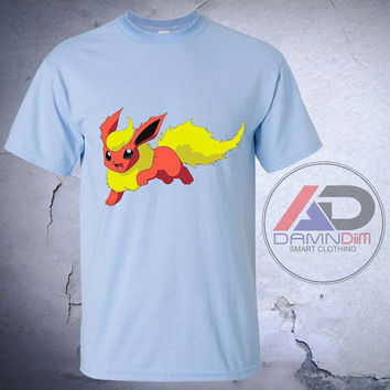 Flareon Pokemon, Flareon Pokemon tshirt, Flareon Pokemon shirt, Tshirt youth, kids tshirt, and Adult Tshirt
