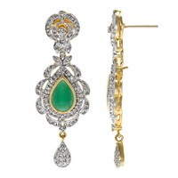 Emitations Indian Fashion Jewelry: Giva's Fancy Dangle Earrings with Interchangable Stones Earring